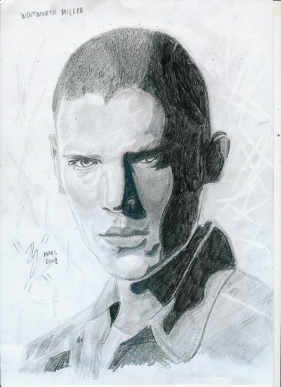 Wentworth Miller by gazl92arts